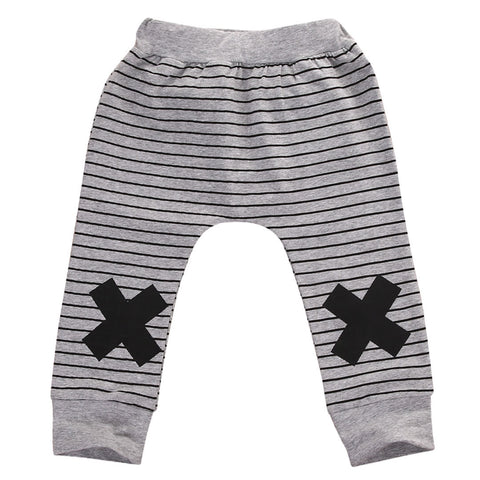 Autumn Spring Striped Newborn Baby Boys Girls Bottoms Monster Harem Pants Leggings Trousers