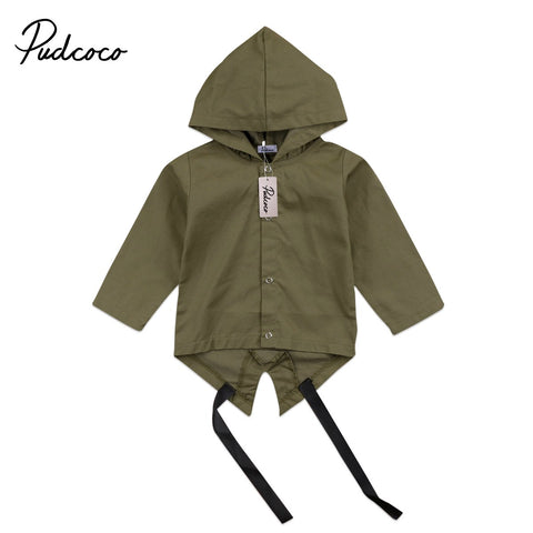 Autumn Winter Baby Clothes Newborn Baby Boy Girl Kids Long sleeve Hooded Windbreaker Outerwear Coat Jacket 0-2T