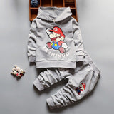 Baby Boy Clothes 2018 Baby Boys Hooded Outfits Tops Sweatshirt Long Pants Infant Clothing Set Kids Casual Sport Suits Tracksuits