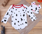 Baby Boy Clothes 2018 Fall Long Sleeve Designer Girls Infant Baby Cartoon Animal Halloween Romper Baby Hat Set