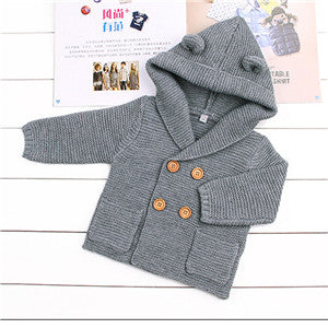 Baby Boy Clothes Spring Baby Sweater Warm Baby Coat Fashion Newborn Baby Clothes Solid Infant Sweater Roupas Bebe Kids Clothes