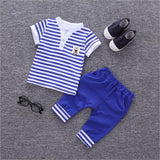Baby Boy Clothes Summer 2018 Newborn Baby Boys Clothes Set Cotton Baby Clothing Suit (Shirt+Pants) Infant Clothes Set a12