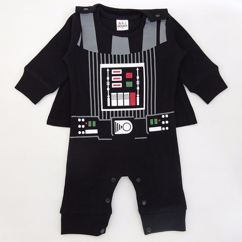 Baby Boy Darth Vader Costume Romper Infant Star War Jumpsuit Toddler Clothes Set With Cape Clothing New Year Costume For Newborn