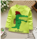 Baby Boys T Shirt long-sleeved Soft Solid Kids Candy Color Girls T-Shirts Cotton Children's T-Shirt O-Neck Tee Tops Boy Clothes