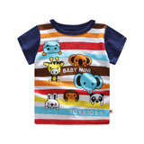 Baby Boys shirts Summer 2018 New Cotton Cartoon Baby Clothes Toddler Baby Boy Clothing Newborn Baby Boy t shirts