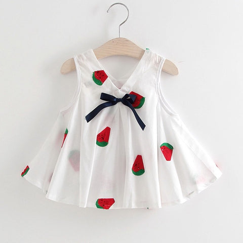 Baby Dress Cotton Dress 1 Year Old Baby Girls Dress Summer New Born Baby Girl Clothes Sleeveless Infant Princess Floral Dress