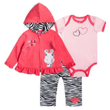 Baby Girl Clothes Set Coat Bodysuit Pants Children Cloth Suit Newborn Baby Boy Girls Clothing roupas bebes meninos kids clothes