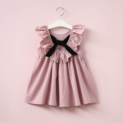 Baby Girls Dress Infant Princess Dresses For Girl With Bow Cute Backless Children Clothing Fashion Casual Summer Kids Vestidos