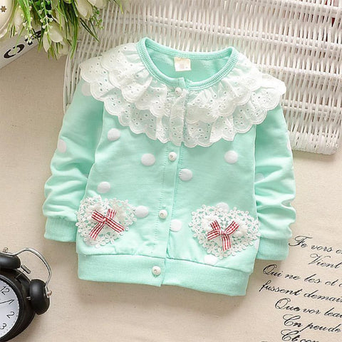 Baby Girls Long Sleeves Tops Coats Warm Jacket Hoodies Kids Autumn Winter Sweatshirts