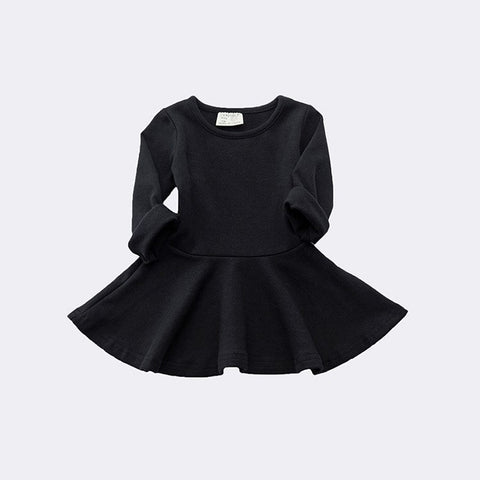 Baby Girls Spring Autumn Dress Toddler Kids Cotton Long Sleeve Party Princess Cute Ruffles Tutu Mini Dresses 0-3Y vestidos