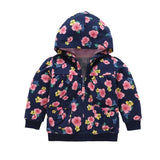 Baby Sweatshirt New Cotton Boys Girls Spring Printed Hooded Outerwear Long Sleeve Coat Toddler Hoodies Pullover 2018