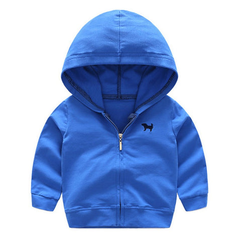 Baby Sweatshirts 2018 0-4Y Autumn New Children Bright Color Sports Jacket Newborn Hooded Cotton Casual Coats