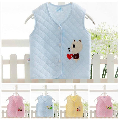 Baby Vests Newborn Baby Clothes Baby Boy Girls Jacket Kids Clothes Winter Children Waistcoats Cotton Warm Animal Outerwear Vest