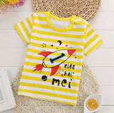 Baby boy and girl Cotton Short Sleeve T-shirt kid boys cartoon tops