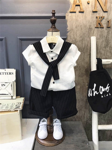 Baby boy clothes summer formal kids clothes suit 2Pcs boys set baby born gentleman toddler boy clothes birthday dress 2-6years
