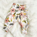 Baby boy girl harem pants deer floral trousers print child high waist pant children boys girls trousers 2018 cute new style
