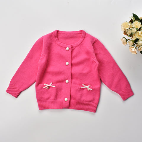 Baby cardigans 2017 kids winter sweater long sleeve infant cotton knitwear outerwear for girls clothes 1-2yrs