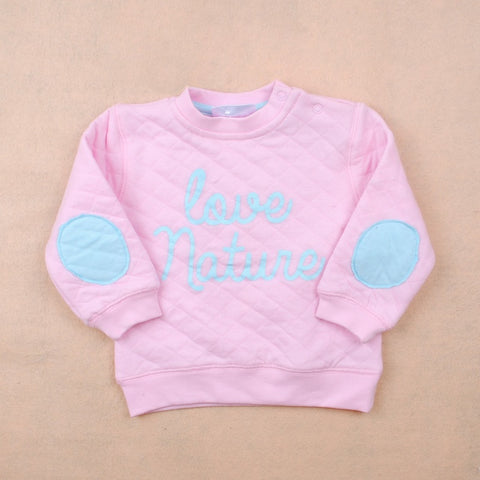 Baby clothes Girls hoodies sweatshirts Autumn Winter pullover cotton pink letter long sleeve boys sweatshirts tracksuit 6-18M
