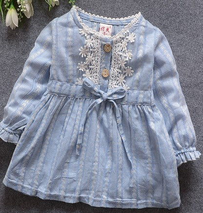 Baby girl dress,New 2018,dresses for girls,bebe,newborn,children girls bowknot long-sleeve princess dress,baby girl clothes 0-2Y