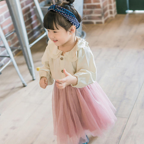 Baby girls blouse fashion kids Ruffles Collar cotton shirts little baby blouses princess baby tops