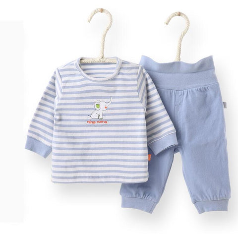 Baby set baby boys girl clothes children set 2pcs pack t shirt and pant elephant design kids clothes children t shirt and pants