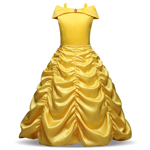 Belle Princess Dress cosplay Girls dress Costume Kids Sleeveless Party dresses for girls Birthday Ball Gown Girls Clothing