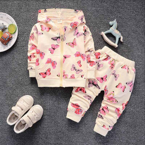 Children Girls Clothing Sets Spring Autumn Girls Hoodies Clothes Suit Baby Girls Jackets+Pants Tracksuit girls clothes