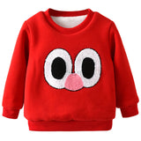 Children Girls Sweatshirts Winter Thick Warm Outwear Girls Sweatshirts Boys Girls Jacket Baby Coat Print Long Sleeves