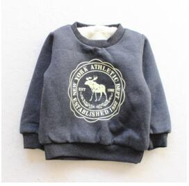 Infant Boy Girls Sweater Clothes Toddler thick Sweatshirts baby Fawn pattern Casual Kids Plus velvet thick Tops Costume