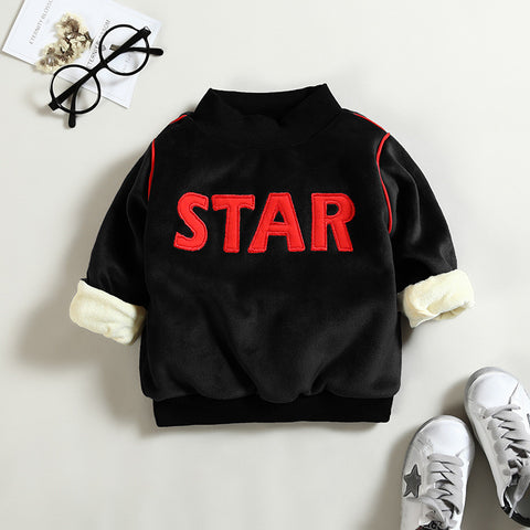 Newborn Girls Boys Winter Warm Hoodies Infant Baby Casual Plus Velvet Sport Clothes Tops Bebe Cotton Thicken Sweatshirt
