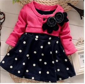 Spring Baby girls dress infant gilr thicnk warm dress Clothes winter baby girl birthday Dress Toddler Girls Party Dress