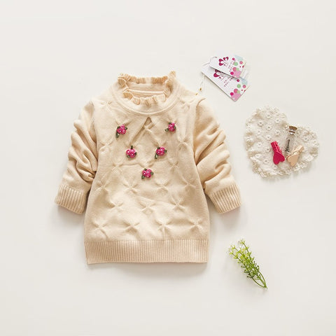 8c63fd263b1c autumn infant clothing spring baby girls sweater cotton floral long ...