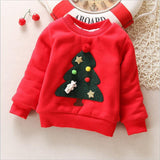 autumn winter baby girls sweatshirts kids girls casual thicken jacket cartoon christmas coat outerwear warm clothes