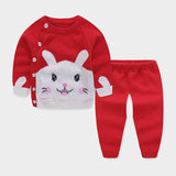 BibiCola baby boy girls clothes For Newborns 2018 Autumn Winter Warm Wool Rabbit Sweater Suit Kids Infant Casual Clothing Sets