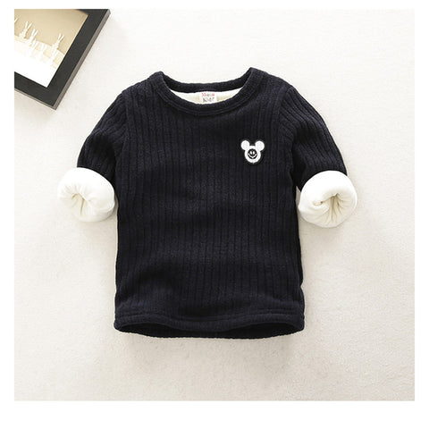 baby boys sweatshirts winter plus velvet cute cartoon tops clothes infant newbron cotton bebe boy clothing sweater coat
