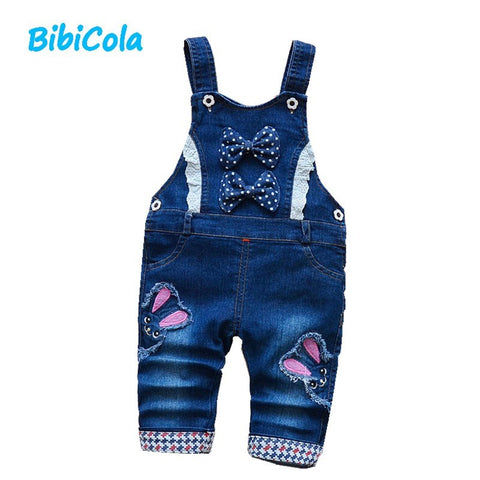 baby girls bib pants child denim overall trousers kids clothes spring infant costume girls jeans pants bebe sport pants