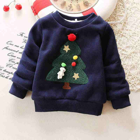 baby sweater girl boy winter wear warm cartoon sweaters children thicken casual velvet costume kids clothes suit