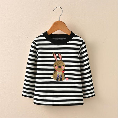 toddler sweatshirts autumn winter infant warm velvet outfits clothing coat Cartoon T-shirt Girl newborn Long Sleeves