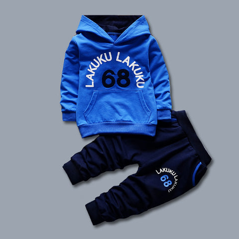 Boys Clothes 2017 Korean Spring Autumn Letter Print Hooded Hoodies + Pants Outfits Kids Bebes Jogging Suits Childrens Tracksuits