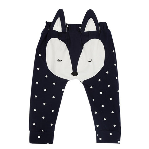 Boys Girls Pants Children's Clothing Cotton Baby Animal Pattern Long Trousers Harem Pants Kids Clothes