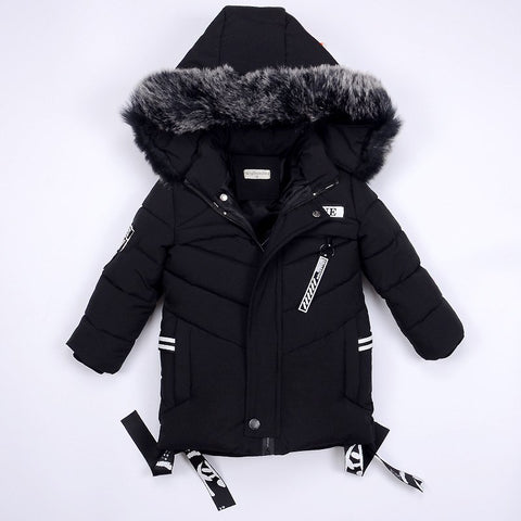 Boys Warm Co Winter Jackets for Kids Clothes Snowsuit Outerwe & Coats Children Clothing Baby Fur Hooded Jacket Infant Parkas
