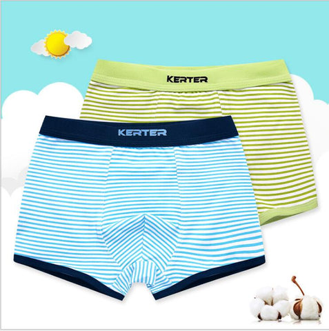 Boys underwe Boxer Cotton Children's underwe Four corners Boys Leggings Baby Child Shorts 2 Pcs Pack