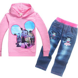 Boys vampirina Clothing Hoodies & Jeans 2pcs Sweatshirts Set Baby Girl Sport Suit Clothes For Boys 3-9years Spring Autumn Wear
