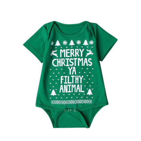 kids clothes girls clothes sets Newborn Baby Boys Girls Printed Christmas Romper Bodysuit Best seller   S35