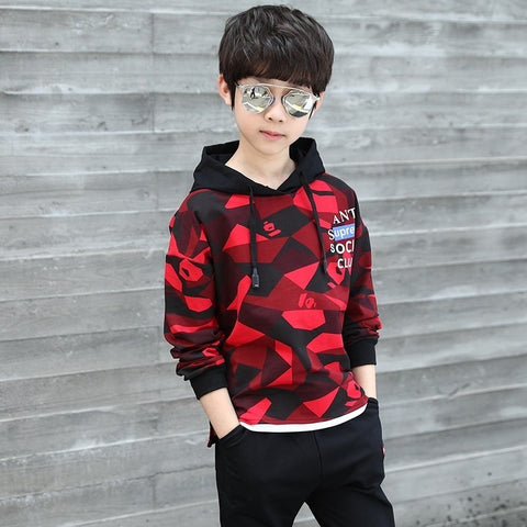 Camouflage Designer Children Hoodies Sweatshirt And Pants Set Casaco Infantil Menino Baby Boys Clothing Autumn 2018 Kids Outfit
