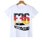 C T Shirts 3 Series Kid's Summer Short Sleeve Tee Classic Boys/Girls/Baby Co E30 f36 T-Shirt Children's Superc Z31-4
