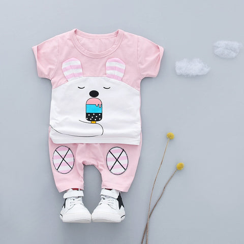 Child New Summer Infant Baby Girls Clothes Outfits Sports Suits 2pcs Sets for Baby Boy Clothing Set Cotton Design Tracksuit