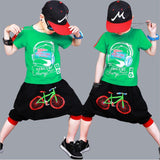 Children Breaking Dance Clothes Sets Boys T-shirt + Haren Pants Costume Outfits Boys Co Clothes Suit Street We Fashion Style