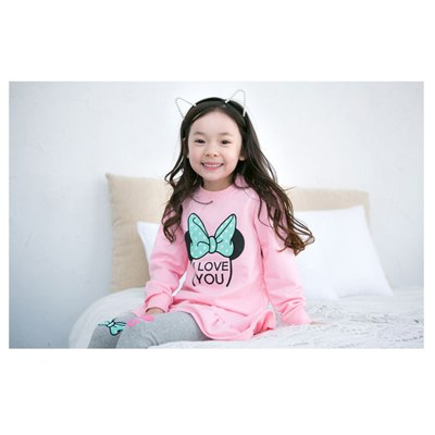 Children Clothing 2018 New Spring and Autumn Girls Fashio Top + pants Printing long-sleeved Sets Baby Casual We High-quality