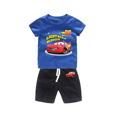 Children Clothing sets Summer Cotton Baby Boys Shorts + T-Shirts 2pcs Kids Set toddler Clothing Suit For 2 3 4 5 6 Years Outfits